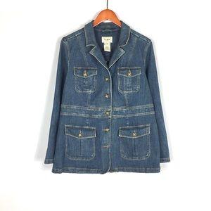 Vintage L.L. Bean women's denim jean jacket